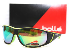 20ad03d6330 New Bolle Highwood Shiny Black Lime Brown Emerald Sunglasses
