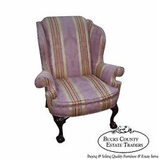 Kindel Winterthur Large Chippendale Ball & Claw Foot Wing Chair