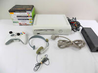Xbox 360 Console Bundle Console + Controller + 10x Popular Games - Headset
