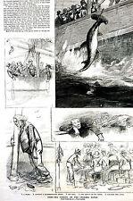 Fishing Cholera Banks ANGLING 1887 Al Foster Bay Ridge Print Matted and TEXT
