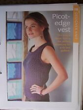 Picot-Edge Vest Pattern from The Art of Knitting Magazine