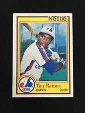 """TIM RAINES ODD BALL 1984 TOPPS """"NESTLE"""" MONTREAL EXPOS BASEBALL CARD   HOF!!"""
