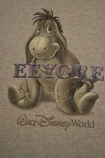 Disney World Eeyore T-Shirt Winnie The Pooh Raised Letters Size Medium