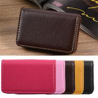 PU Leather Business ID Credit Card Holder Handbag Purse Wallet Case Pocket