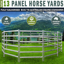 13 Panel Horse Yards Inc Gate, round Yard, Cattle Fences, Corral 9m diameter