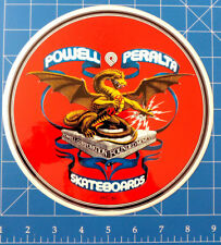 "POWELL PERALTA 1981 DRAGON BANNER STICKER ***A MASSIVE 8"" WHOPPER!!!***"