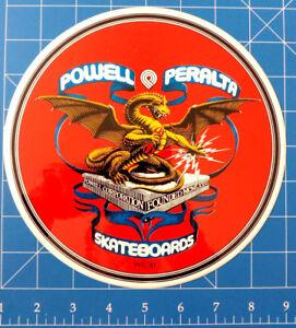 """POWELL PERALTA 1981 DRAGON BANNER STICKER ***A MASSIVE 8"""" WHOPPER!!!***"""