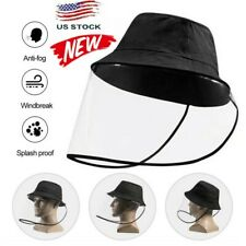 Protective Clear Full Face Hat Cap Anti-dust Saliva Windproof Fisherman Hat HD