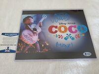 ANTHONY GONZALEZ Signed AUTO MIGUEL 8x10 Photo DISNEY PIXAR'S COCO BAS BECKETT