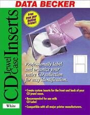 25 DATA BECKER CD JEWEL CASE INSERTS MATT 160GSM