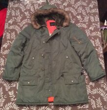 VINTAGE Military FLIGHT Parka JACKET JC Penneys WINTER COAT Sz Mens M season 5