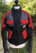 Ladies IXS Airdura Scotchlite 3M Motorcycle Jacket Red/Black Small
