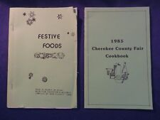 1985 CHEROKEE CO FAIR COOKBOOK & 1986 FESTIVE FOODS Cook Book Booklets
