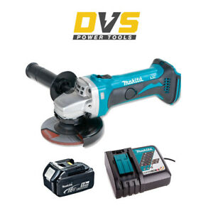MAKITA DGA452Z 18V CORDLESS ANGLE GRINDER LXT 115MM 5.0AH BATTERY BL1850 CHARGER
