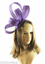 Purple Fascinator Hat For Weddings/Ascot/Proms With Headband K5