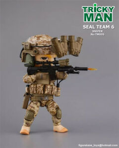 "FigureBase TM005 Trickyman 3 Seal Team 6 Pointman 5"" Mini Figure Custom Collecti"