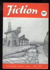 Revue FICTION n° 113 Avril 1963  BORGES / M. DEMUTH / R. GARRETT / LOB    OPTA