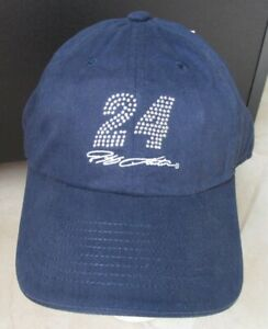 NEW Jeff Gordon #24 WOMENS Hat Cap Chase Authentics Blue w/ Bling Adjustable