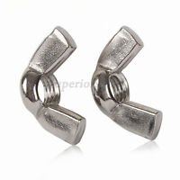 """3/16"""" 1/4"""" 5/16"""" 3/8"""" Wing Nuts Fit BSW Bolts & Screws - Zinc Plated Steel"""