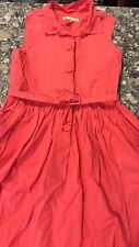 Bonpoint Girls Coral Shirt Dress Size 12