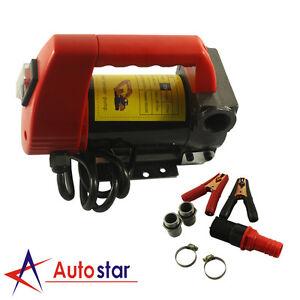 12v 175w Fuel Oil Diesel Transfer Pump Fluid Heavy Duty 45 L/min