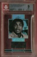 MUHAMMAD ALI THE GREATEST AUTHENTIC GRADED BGS MINT 9 EVENT WORN RELIC CARD #21
