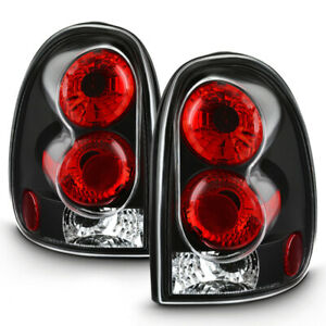 For 96-00 Chrysler Town&Country Dodge Caravan Durango Black Tail Brake Light L+R