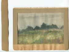 VINTAGE 1930's CALIFORNIA INDIAN HILL FOREST DUSK RAINY DAY GOLF COURSE PAINTING