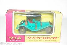 MATCHBOX YESTERYEAR Y-14 Y14 1911 MAXWELL ROADSTER GREEN VN MIB RARE SELTEN!!