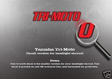 YAMAHA TRI-MOTO HEADLIGHT SHROUD DECAL YT125 YT175