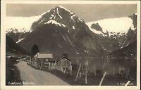 Balholm Norwegen Norge AK ~1930/40 Esefjord Berge Fjord Landschaft Schnee See