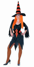 Hagatha The Witch Fancy Dress Womens Halloween Costume With Hat Size fits 10-12