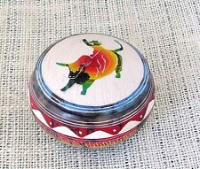 Horsehair Navajo Pottery Hilda Whitegoat Small Bull Rider Jewelry Box