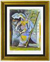"Pablo Picasso Signed/Hand-Numbrd Ltd Ed ""Woman w Pigeons"" Litho Print (unframed)"