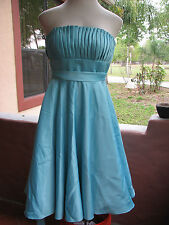 Mori Lee by Madeline Size 10 Teal/Seafoam Pleated Top BEAUTIFUL! Dress