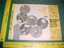 1985 FORD ESCORT/ LYNX / EXP WIRING/VAC MANUAL EVTM