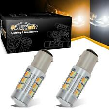2Pcs 1157 22-5730-SMD Dual Color Switchback Front Turn Signal Light Amber White