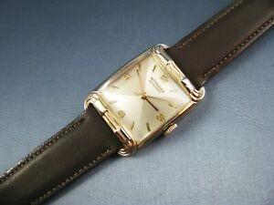 Vintage Longines Wittnauer 10K Gold GF  Automatic Mens Watch 17J 9RW 1950s