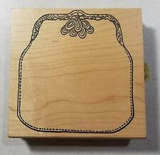 Coin Purse Rubber Stamp Large Background