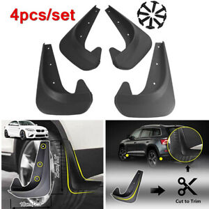 4 Pcs Black Front Rear Mud Flaps Guards Splash Molded Protector Lower Body Kit