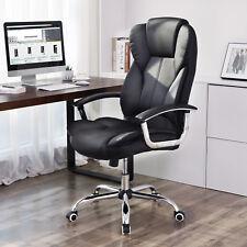 SONGMICS schwarz Bürostuhl Chefsessel Bürodrehstuhl PU Kunstleder OBG57B