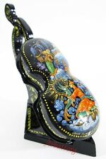 "Russian Lacquer box style Kholui Fairy tale ""By magic"" Violin Hand Painted 289"