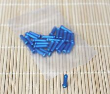 Alligator Bike Bicycle Brake Derailleur Shifter Cable End Caps tips Blue, 25pcs