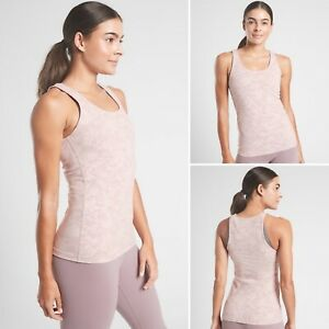 Athleta Scoop Texture Tank SMALL Frosted Floral Velvety Pink Icelandic Mineral