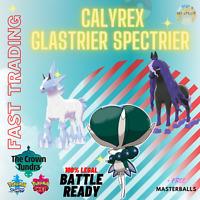 POKEMON SWORD & SHIELD CALYREX SPECTRIER GLASTRIER CROWN OF TUNDRA DLC