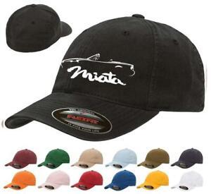 1989-97 Mazda Miata Sports Car Classic Outline Design Flexfit Hat Cap