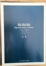 WET WET WET Stay With Me Heartache magazine ADVERT / Poster 11x8 inches