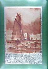 CPA Germany 1899 Nurnberg Schiffe Ship Boat Sail Nave Marine Statek Litho s58
