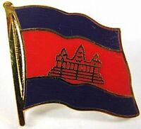 Kambodscha Flaggen Pin Anstecker,1,5 cm,Neu mit Druckverschluss