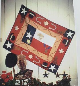 Complete Quilt Kit - Texas Proud - Fabric & Pattern Quarters Flag Cowboy Vintage